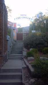 Stairs up the hill to Piropos